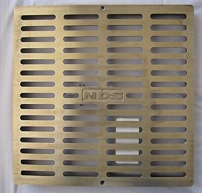 """Brass Floor Grate Heavy Duty NDS-1230B Brushed Satin 11.75"""" x 11.75"""" NEW NOS"""