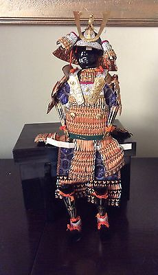 Antique Japanese Samurai Doll with Box Boys' Day 1934