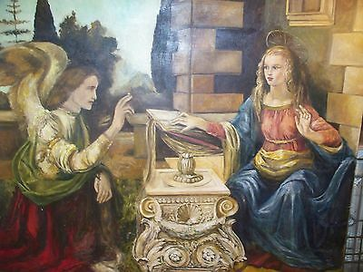 The Annunciation Poca Distanza by Corinne Layton (24x36) Canvas Print see 12pics