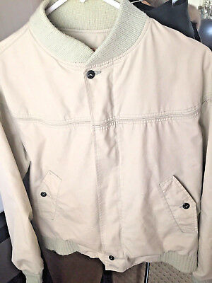 RARE DERBY OF SAN FRANCISCO MENS KHAKI PAISLEY JACKET US 36 Buttons HIPSTER