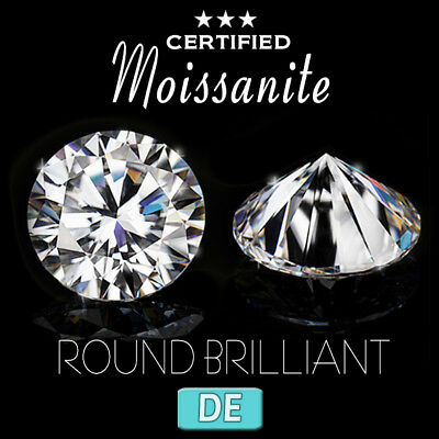 DEF DE D E F Colorless white forever one Round Loose Moissanite charles colvard