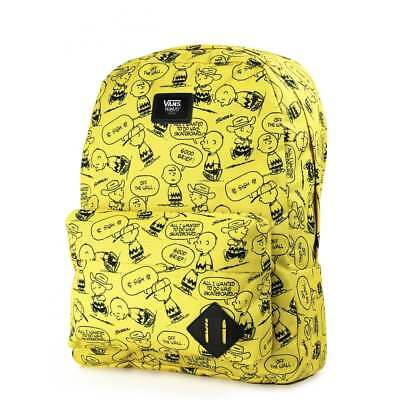 9f8499a98e Vans Otw Peanuts (Old Skool Ii) Backpack Charlie Brown Snoopy Yellow New Nwt