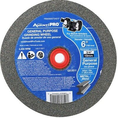 Avanti Pro 6 inch Bench Grinder Metal Grinding Wheel 1 in Arbor Power Tool Part