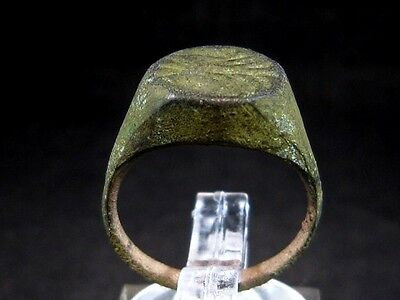 Extremely Rare Roman Intaglio Seal Bronze Ring, Very Interesting Image+++