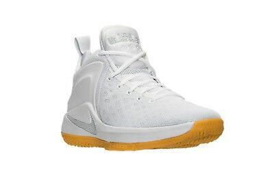 release date 7c509 1d386 Nike LEBRON Zoom Witness White Pure Platinum Gum Shoes (852439 103) -