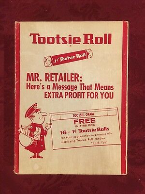 Vintage 1950's Tootsie Roll Empty Store Display Box 1 Cent Old