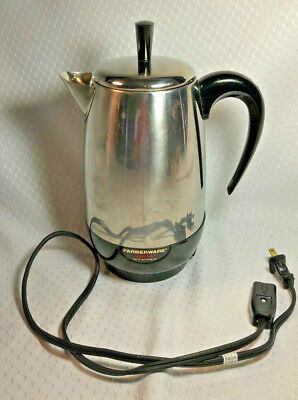 Farberware 8 Cup Superfast Coffee Percolator Model 138 Vintage Complete Tested