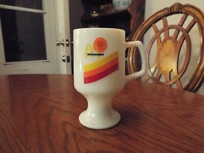 Vintage McDonald's Pedestal Footed Mug Coffee Cup White Milk Glass
