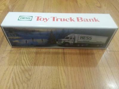 Vintage 1984 Hess Toy Truck Bank w Box & Inserts  Never Used NOS MINT MIB