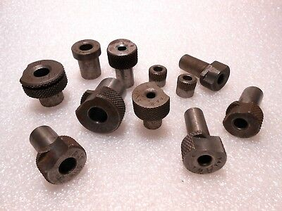 Drill Bushing 12 Pieces Lot Various ID's OD's Styles, Lengths USED