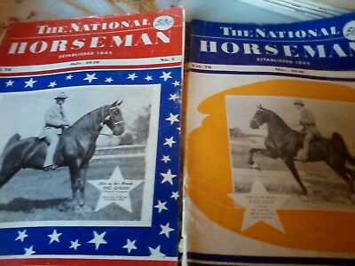 Vintage National Horseman Magazines