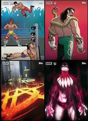 BOOM STUDIOS WWE #6 COMPLETE SET OF 4 CARDS Topps WWE Slam Digital Card