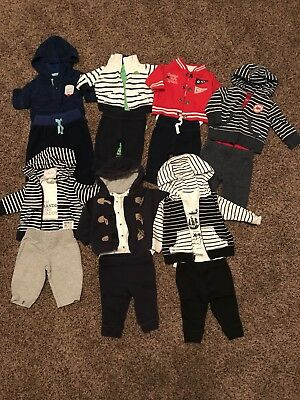 Huge Lot of Newborn Boy Baby Clothing 82pc- Mostly Complete Outfits!!!! LOOK!