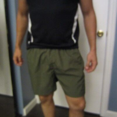 US Army Green Silkies Shorts Sports Lined Men's Large Official Military Item