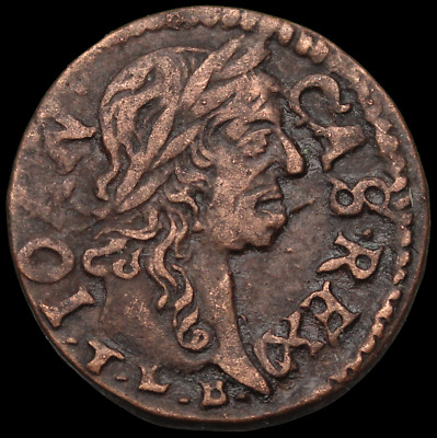 POLAND. Jan of Casimir Hammered Solidus, Regal Eagle, dated 1664