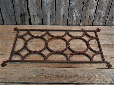 Antique Old Rustic Iron ARCHITECTURAL Garden Wall Fence Gate Salvage