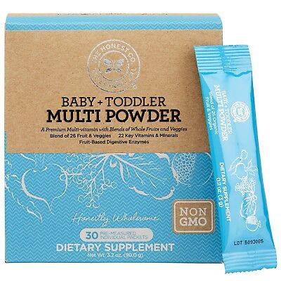 The Honest Company Baby + Toddler Multi Powder 30 packets Non GMO Exp. 5/18
