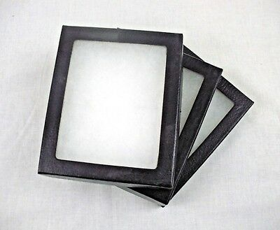 3 Used Riker Display Case 5 x 4 x 3/4 for Collectibles Arrowheads Jewelry