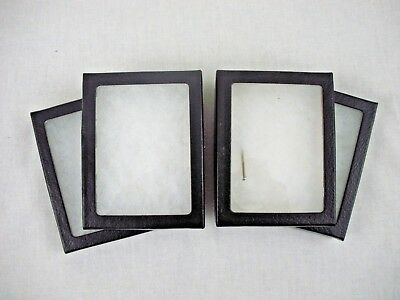 4 Used Riker Display Case 4 x 3 x 3/4 for Collectibles Arrowheads Jewelry