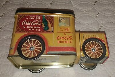 Coca Cola Bottling Company Delivery Truck Small Tin Toy Box 1994 Vintage Coke