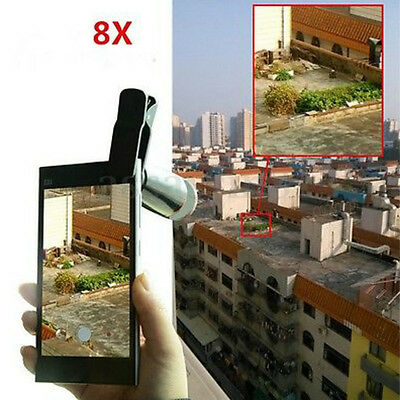 Universal Optical Zoom10 in 1 Lens Cell Phone Camera Clip Telescope Kit Mobile