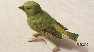 Vintage M J Hummel Goebel W. Germany Bird Figurine GREENFINCH