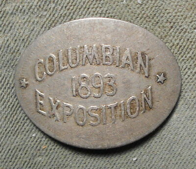 Martin & Dow WCE-2 Columbian Exposition 1893 Elongated On 1888 Liberty 5c R-3