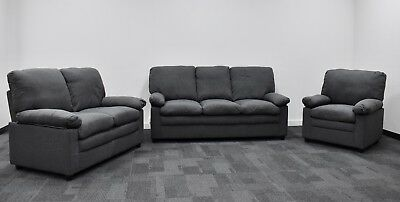 Toronto Sofa Suite, Lounge, Couch 3+2+1 seat sofa, armchair, love seat