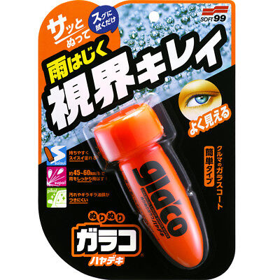 Soft99 Glaco Roll On Instant Windshield Glass Coating Agent Water Rain Repellent