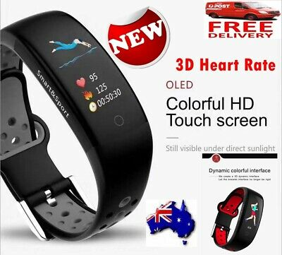 Waterproof Activity Tracker Smart Fitness Watch Heart Rate Monitor Fit Sleep Au