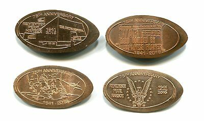 HAWAII ELONGATED CENT SET: Pearl Harbor 75th Anniversary, set of 4 copper 2016