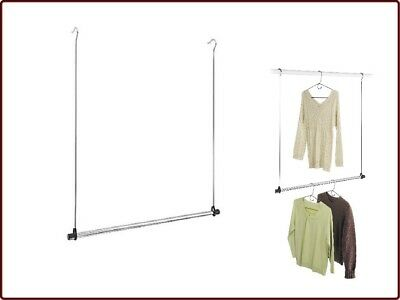 Whitmor Double Rod Closet Extender Chrome Organizer Free Standing Free  Shipping