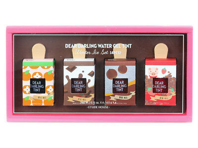 [ETUDE HOUSE] Dear Darling Water Gel Lip Tint Winter Ice 4pcs Set KOREA NEW