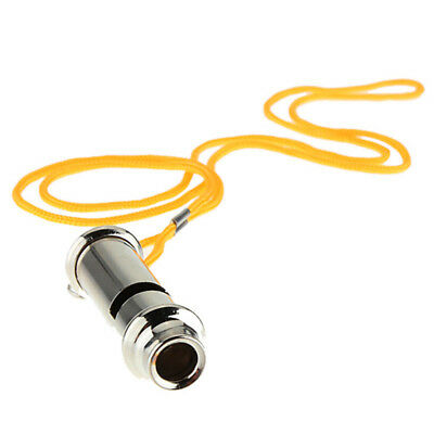 Steel With Lanyard Metal Whistle Emergency Portable Whistle Security Warning