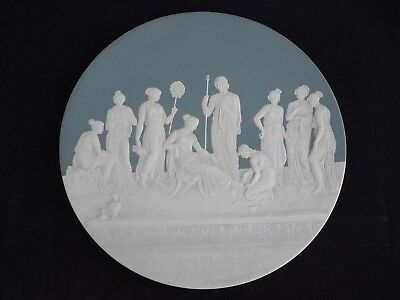 """Antique Mettlach Cameo Charger #2443, 18 1/2"""", Signed - Mint"""