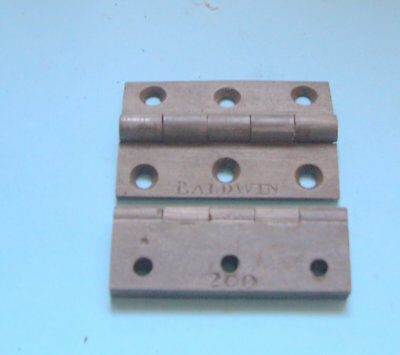 Pair of reclaimed old Baldwins 3 inch hinges refurbished to nearly new