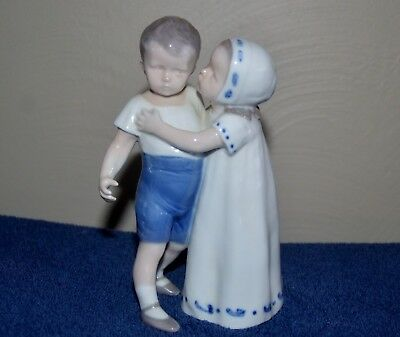 """Royal Copenhagen Figurine #1614 """"Love Refused"""",""""the Kiss"""" from Bing and Grondahl"""
