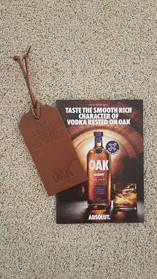 Absolut Wodka Oak /  Flaschenanhänger / TAG & Oak Mixtips