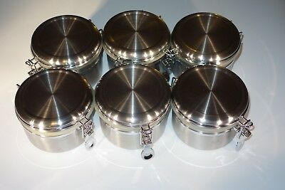 6x Update International 26oz Stainless Steel Storage Canister (CAN-4SS)