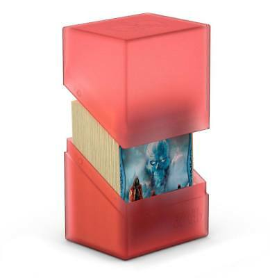 Ultimate Guard - Boulder Deck Case 80+ Ruby - Gaming Card Box for Arkhive
