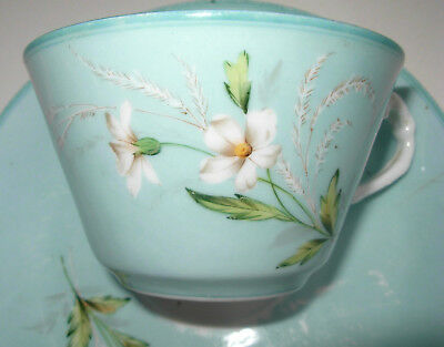 Antique Russian Imperial Porcelain Gardner Tea Cup and Saucer Handpainted 1880