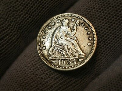 1853 With Arrows Seated Liberty Half Dime