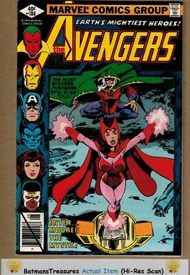 Avengers #186 (9.2-9.4) NM Scarlet Witch 1979 By John Byrne Bronze Age Key Issue