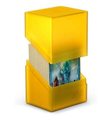 Ultimate Guard - Boulder Deck Case 80+ AMBER - Gaming Card Box for Archive