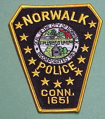 Norwalk  Connecticut  1651  Ct   Police Patch  Free Shipping!!!