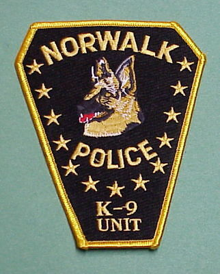 Norwalk  Connecticut  Ct  K-9 Unit  Type #2  Police Patch  Free Shipping!!!