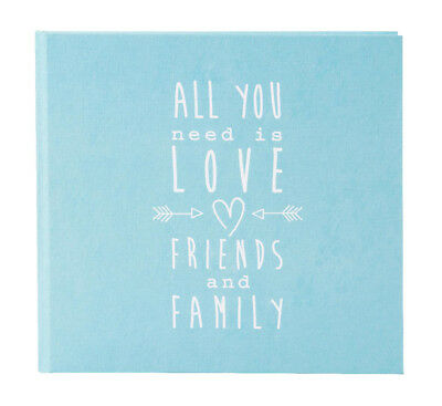 High quality wedding guest book. Turquoise guest book. Love design. 88 pages.