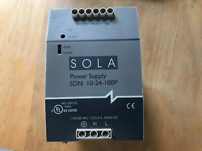 SOLA SDN 10-24-100P 24V DC Power Supply