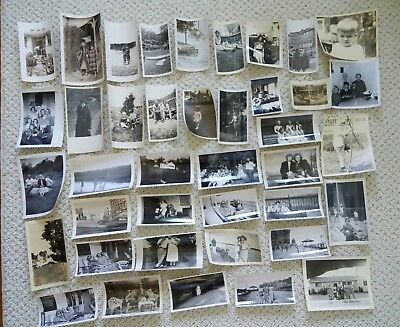 Mixed Lot Of 40 Vintage B & W Photo Snapshots People Photographs