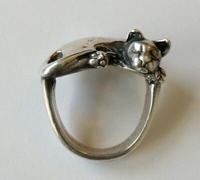 James Yesberger Sterling Cat Ring Size 5 1/2